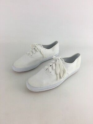 754dee6db2a5 Keds Womens White Canvas Lace Up Solid Oxford Sneakers US Sz 8 EU Sz 39