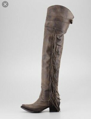 87a445c0acc Ash Austonian Boots Butch 9 Fringe Western Over The Knee Free People Cowboy