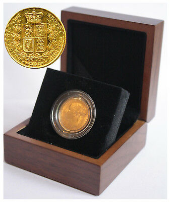 1860 Queen Victoria Shield Reverse Sovereign + Capsulated within Luxury Case