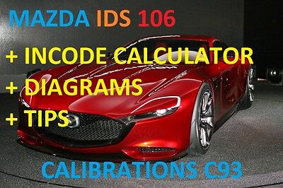 Mazda IDS v106.00 latest version + Calibrations C93 + INCODE CALCULATOR + TIPS