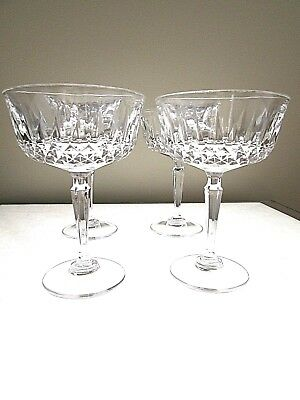 4 St.george Crystal Toscany Classic Elite Collection Champagne/Dessert Glasses