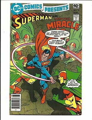 DC COMICS PRESENTS # 12 (Superman and Mister Miracle, Cents Issue, Aug 1979) VF+
