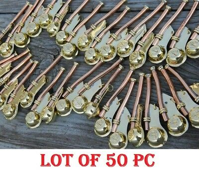 Lot Of 50 Pc Nautical Antique Brass Boatswain's Pipe Bosun Whistle Key Chain