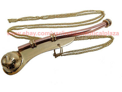 New Copper/Brass Boatswain Whistle-Bosun Call-Pipe- Navy Ship Whistle