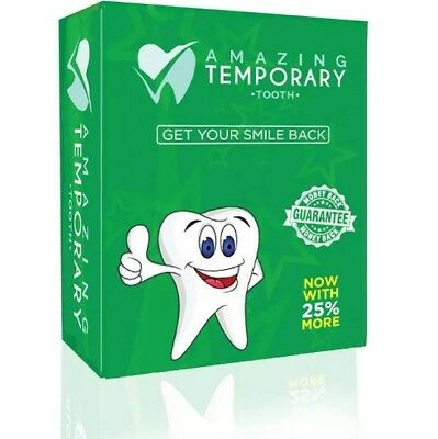 *Used* Amazing Temporary Missing Tooth Kit Approximately 90% Left SHIPS FREE