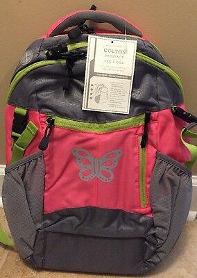 NEW Pottery Barn Kids Colton PINK BUTTERFLY  Backpack PINK GRAY