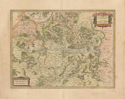 Metz Nancy Saarbrucken France Antique Map Mercator - Hondius 1636 Original