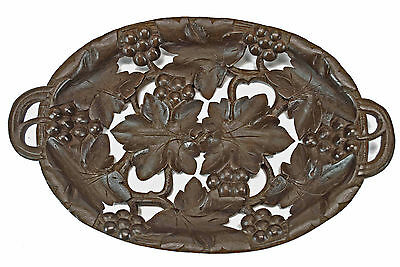 Vintage Grape Vine / Reticulated Fruit Dish or Tray Black Forest, Switzerland.