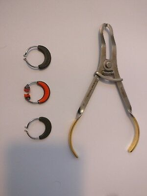 Garrison Dental Sectional Matrix System Forceps and 3 Rings