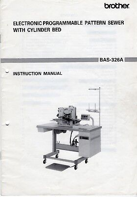 Original Brother BAS-326A Electronic Pattern Sewer Instruction Manual