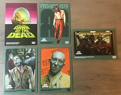 Dawn Of The Dead Trading Cards 5 Sticker Lot Fright-Rags Zombie