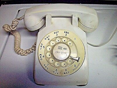Western Electric 500 set dial telephone WHITE  - 60's -----------right of C