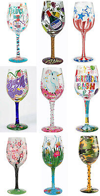 23bffb185 Enesco Lolita Wine Glass ~ Hand Painted ~ Mothers Day Gift ~ Many Styles