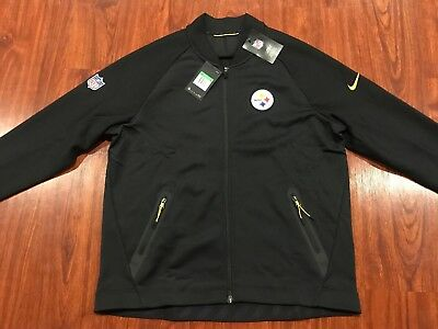 reputable site 4942b d872d NIKE MEN'S PITTSBURGH Steelers NFL Coaches Sideline Full Zip Jersey Jacket  XL