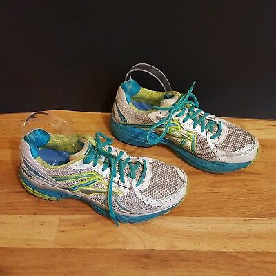 c25b86d2f24 Brooks Defyance 7 Running Shoes Size 10 Womens White Aqua Athletic Sneakers