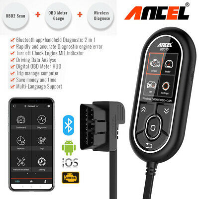 Bluetooth Professional OBDII Scan Tool On-board Computer For Android and iPhone
