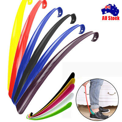 3x Convenient Shoe Horn Extra Long Plastic Boot Mobility Easily Slip On Shoes CO