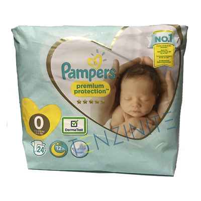 Pampers New Born Baby Nappies Size 0 24 Per Pack