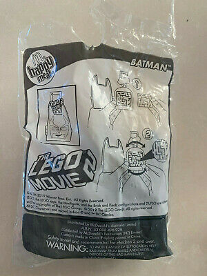 McDonald's Happy Meal Toy Character Pack The LEGO Movie 2 Batman Open NEW