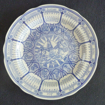 Spode Millenium 2000 Collector's Blue & White China 26 cm Plate