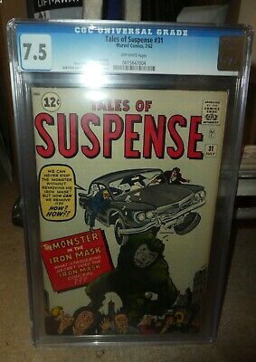 Marvel Comics 31 Tales of Suspense 7.5 CGC Great spine Monster in iron mask 1962