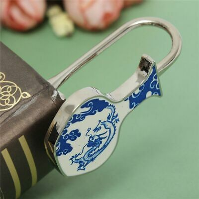 Chinese Folk Style of Blue and White Porcelain Metal Bookmark Stationery Gift