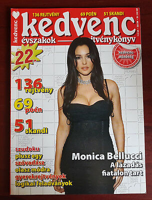 Monica Bellucci on front cover & article page Hungarian Magazine