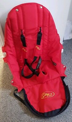 Baby Jogger City Select replacement seat fabric all Red with straps and pads 007