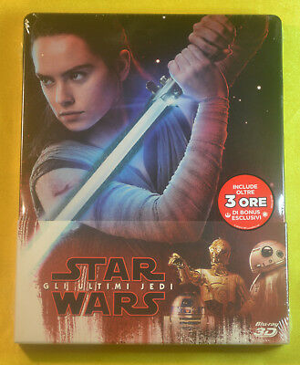 Star Wars The Last Jedi Steelbook 3D + Bluray Import New & Sealed