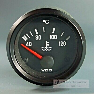 VDO KÜHLWASSER  INSTRUMENT 120°  *LED EDITION*   GAUGE 12V  52mm Cockpit int.