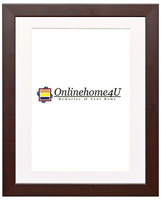 New Mahogany  Photo Frames With Various Colors Mounts Wooden Effect Photo Frames