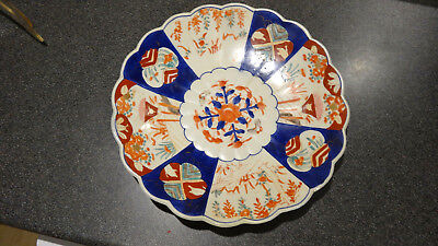 A LARGE JAPANESE ANTIQUE IMARI EARLY C19 CHARGER 13 inches