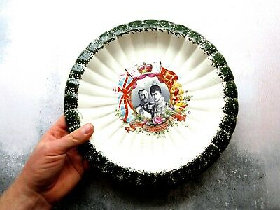 Antique 1911 King George V Queen Mary Coronation Serving Plate Bowl