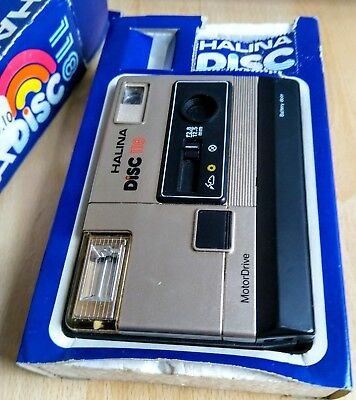 1980s Halina Disc 118 Camera Boxed film photo history pictures photography rare