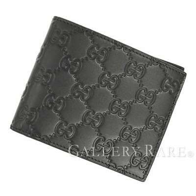 92ae1d666f1a GUCCI Guccissima Leather Black Wallet Card Holder 406693 Italy Authentic  5269426