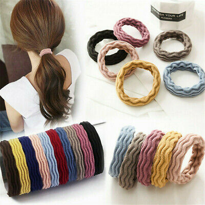5X Women Elastic Rubber Hair Ties Band Rope Ponytail Holder Resilience Seamless