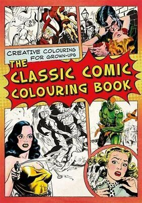 The Classic Comic Coloring Book With Free 30 Colouring Pencils Set