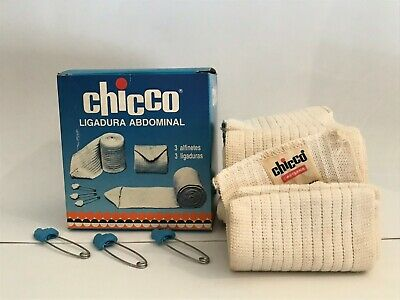 Chicco vintage baby abdominal bangages 3 pieces and 3 safety pins