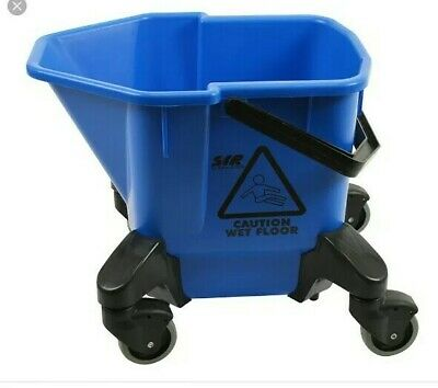 & SYR Blue Kentucky Mop Bucket Blue  16 Litre Cleaning floors Wheeled 61:21