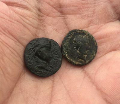 KUSHAN EMPIRE: Kujula Kadphises. Circa AD 50-90 AE LOT OF 2 Coins