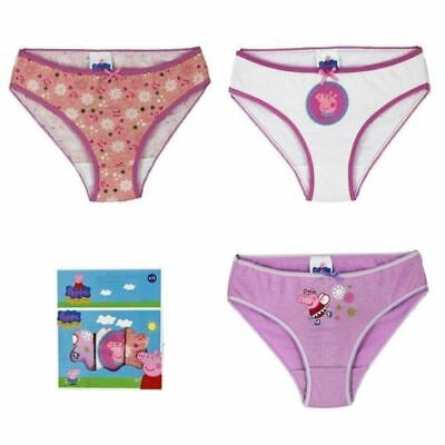 9 Pairs of Peppa Pig Childrens Girls Pack Of 3 Underwear Briefs 6-8 YRS B631-9
