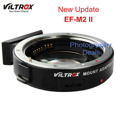 Viltrox EF-M2 II AF Focal Reducer Booster Adapter For Canon EOS EF to M43 Camera