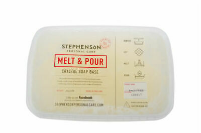 FREE FROM PALM,SLS & SLES,MPG,PEG! Transparent Melt & Pour Soap Base - FREE P&P