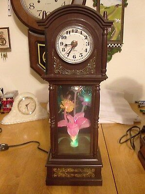 Fiber Optic Grandfather  Electric/Battery Wall/Desk/Mantel  Clock ( Bakelite)