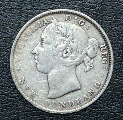 .925 Silver 20 Cents Younger portrait of queen Victoria 1890 NEWFOUNDLAND (22H)