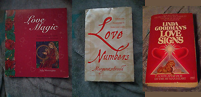 Lot of 3 Love Magic Books Wicca Magick spells Astrology Numerology