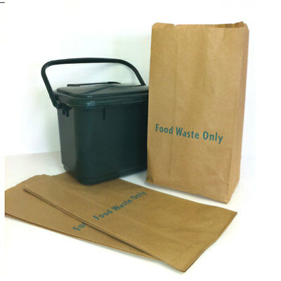 Paper Kitchen Caddy Bags ~ 7/8L ~ Pack of 25 ~ Compostable Caddy Liners