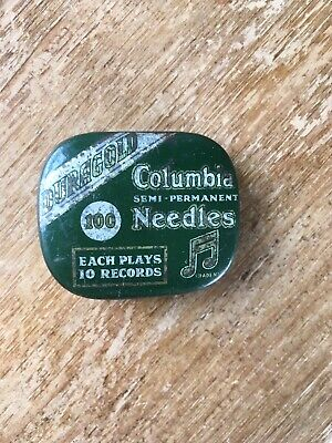 Vintage Columbia Duragold Semi Permanent Gramophone Needles 100 Tin & Contents