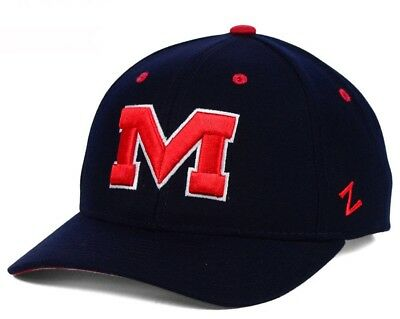 check out 08b55 c0e73 New Ole Miss Rebels Zephyr Competitor Adjustable Hat Cap Navy Blue