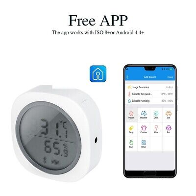IBS-TH1 Bluetooth Thermometer Plus Hygrometer For Brewing Meat Cigar Storage